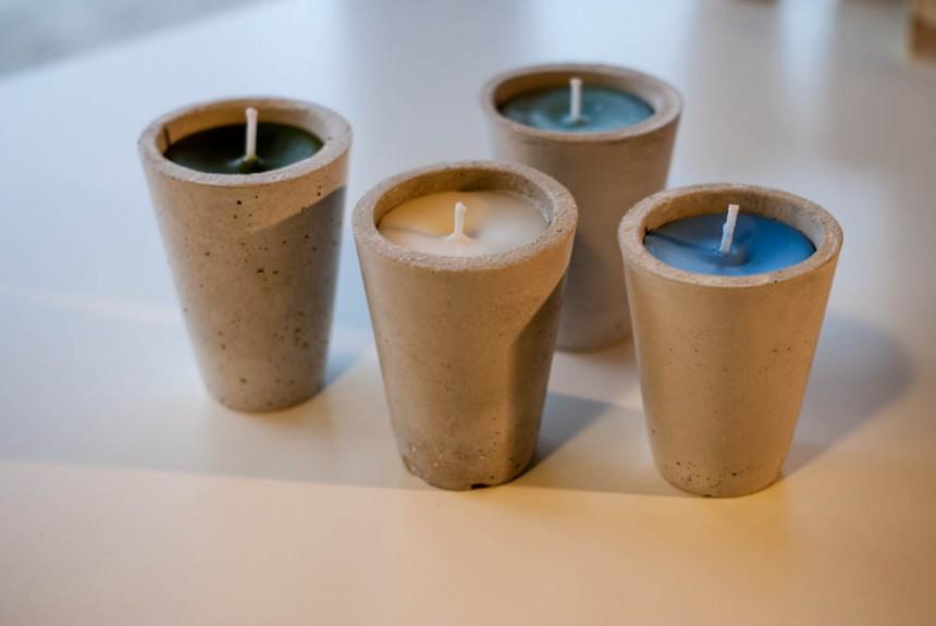 Beton Kerzen