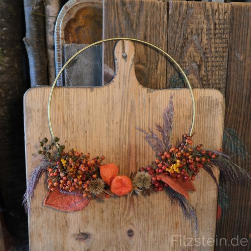 Herbstkranzwilde mischung in Orange