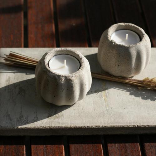 Teelicht aus Beton
