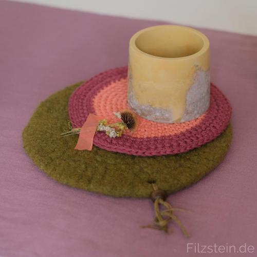 bei Filzstein gibt es neue Farben nicht nur bei Beton, Filz oder Baumwolle